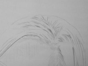 Kreslenie vlasov - podrobne. 1 Uk    ka kreslenia