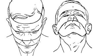 kreslenie ľudskej hlavy Kreslenie ľudskej hlavy spredu. Perspekt  vne skr  tenie tv  re e1334509126133