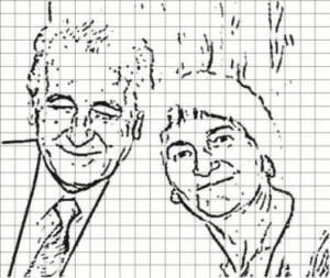 Ako nakresliť perfektný portrét ? Ako nakresliť perfektný portrét ? Predloha obrysy s mrie  kou 300x253