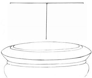 Kreslenie keramickej urny. Kreslenie keramickej urny. v06 300x254