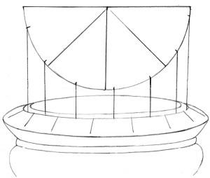 Kreslenie keramickej urny. Kreslenie keramickej urny. v08 300x254
