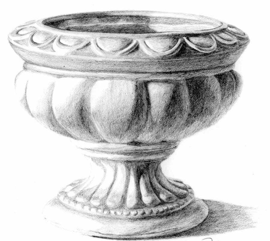 Kreslenie keramickej urny. Kreslenie keramickej urny. v10