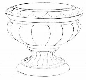 Kreslenie keramickej urny. Kreslenie keramickej urny. v 10 300x277