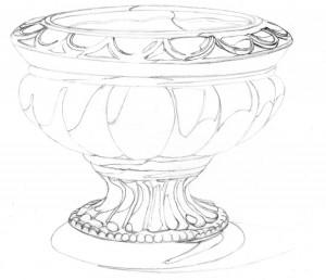 Kreslenie keramickej urny. Kreslenie keramickej urny. v 12 300x258