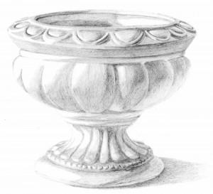 Kreslenie keramickej urny. Kreslenie keramickej urny. v 13 300x273