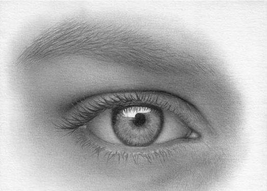 kreslenie ľudského oka Kreslenie ľudského oka. Krok