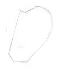 Kreslenie ľudského ucha. ucho 1