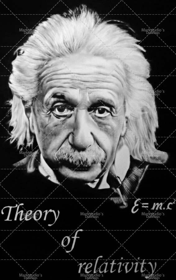 Albert Einstein portrét A2