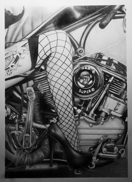 Motorka kreslená